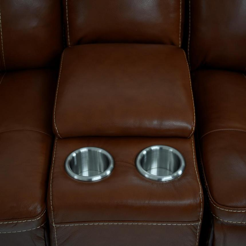 Napa Tan Home Theater Leather Seating  alternate image, 9 of 10 images.