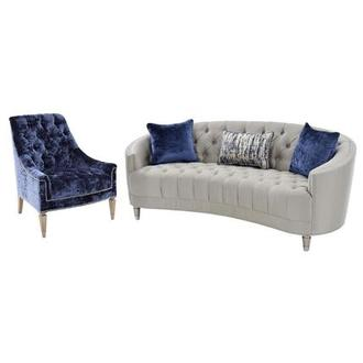 Kimberly Silver Living Room Set