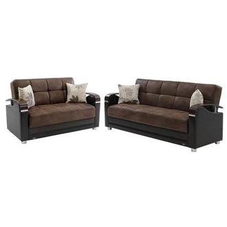 Peron Chocolate Living Room Set