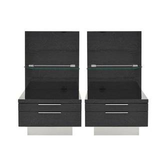 Ally Gray Nightstand Set of 2