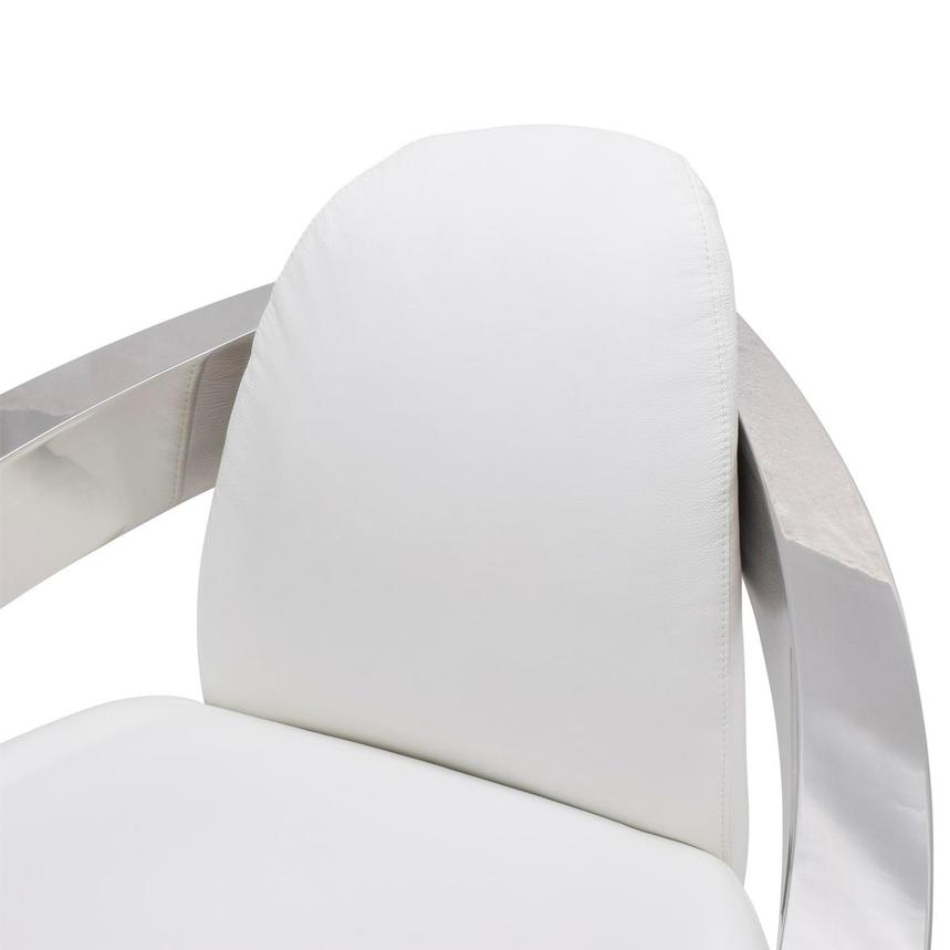 Aviator II White Leather Accent Chair  alternate image, 6 of 7 images.