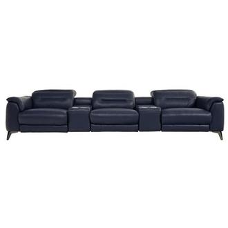 Anabel Blue Home Theater Leather Seating