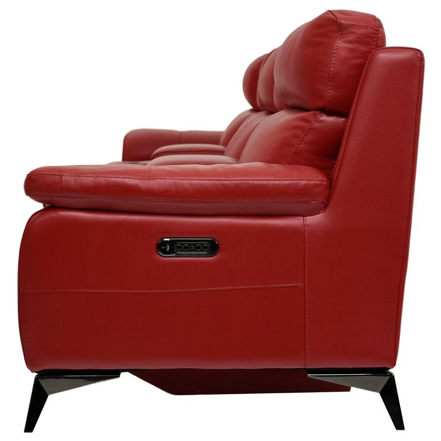 Barry Red Home Theater Leather Seating  alternate image, 4 of 11 images.