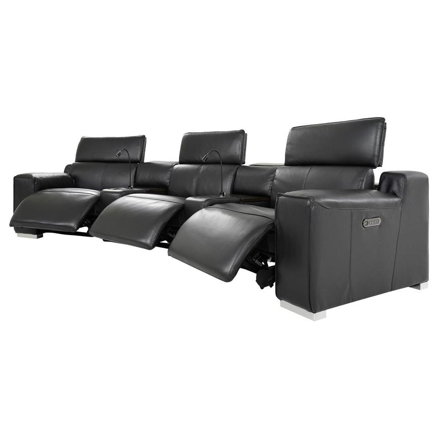 Jeremy Home Theater Leather Seating  alternate image, 4 of 16 images.