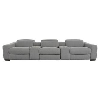 Jameson Light Gray Home Theater Seating