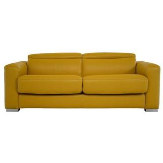Bay Harbor Yellow Leather Sleeper