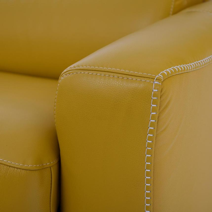 Bay Harbor Yellow Leather Sleeper  alternate image, 9 of 11 images.