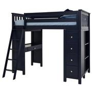 Haus Blue Twin Loft Bed w/Desk & Chest  alternate image, 5 of 14 images.