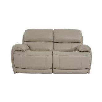 Cody Cream Leather Power Reclining Loveseat