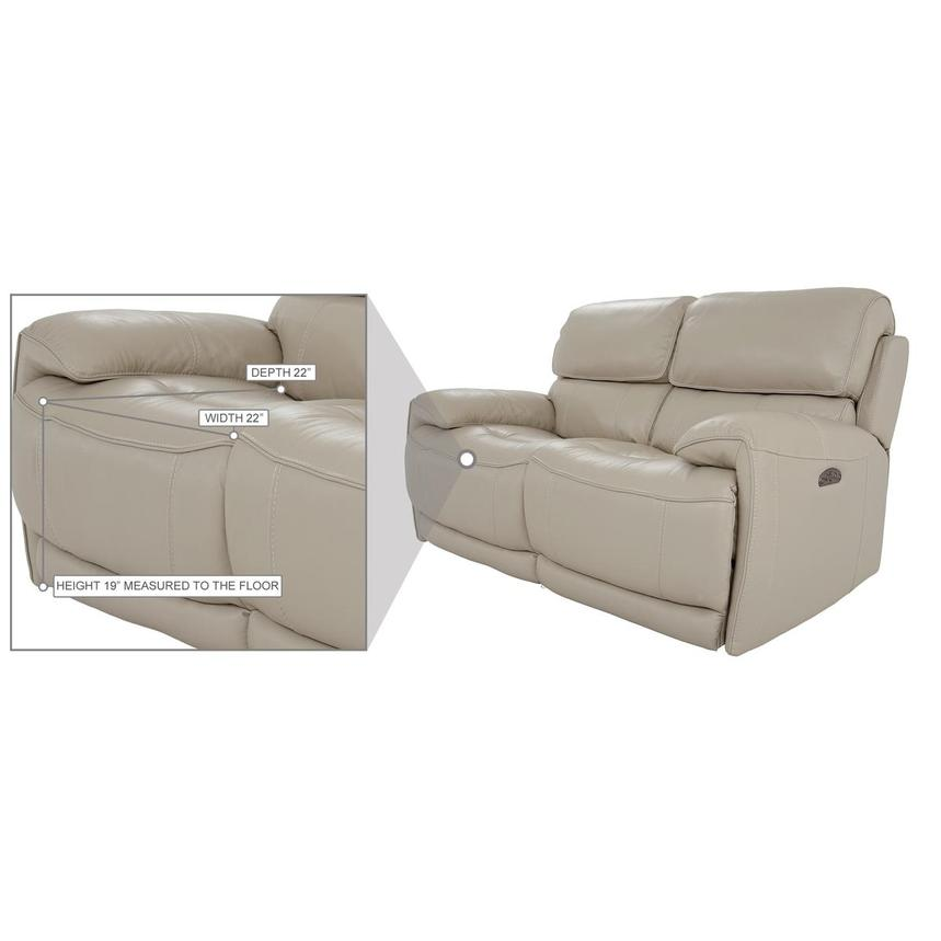 Cody Cream Leather Power Reclining Loveseat  alternate image, 10 of 11 images.