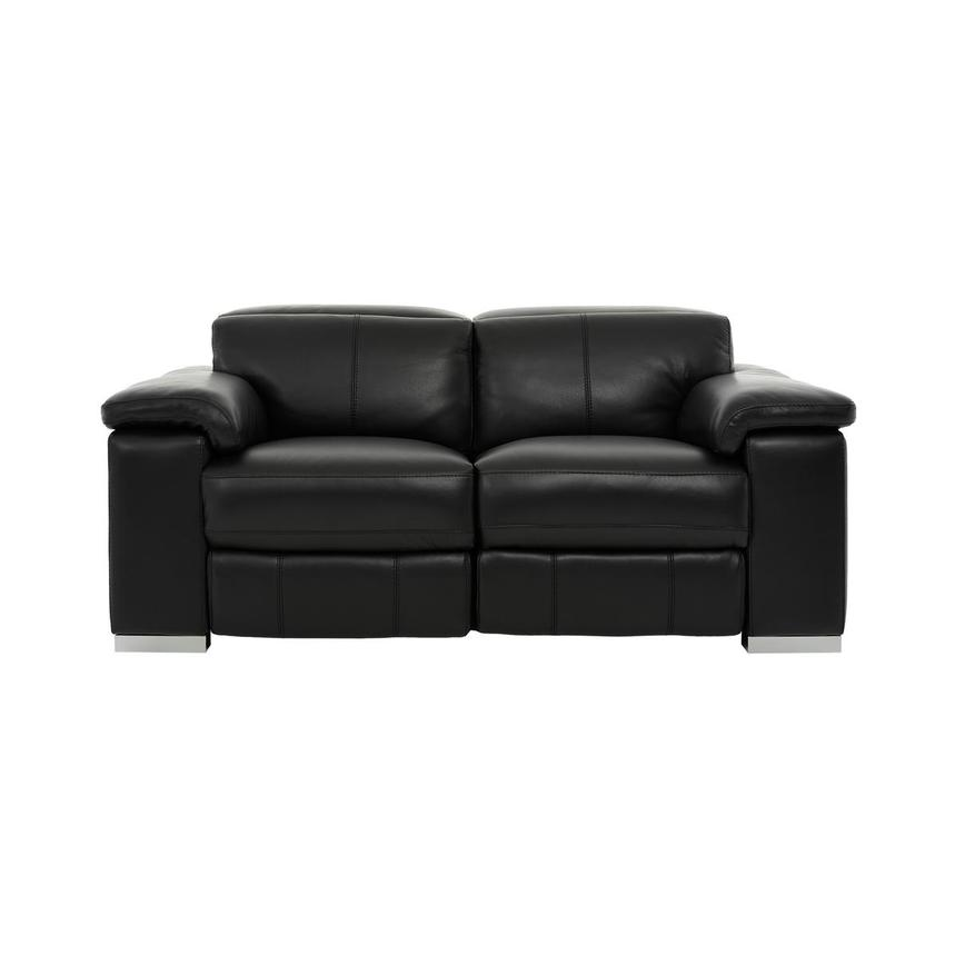 Charlie Black Leather Power Reclining Loveseat  main image, 1 of 12 images.