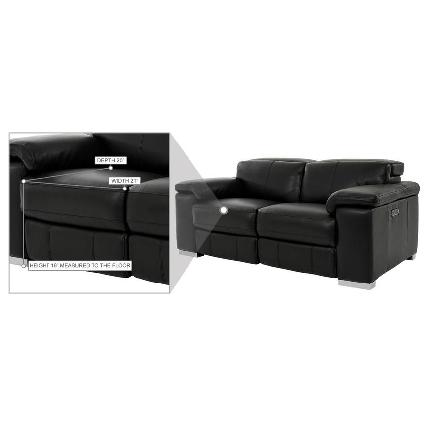 Charlie Black Leather Power Reclining Loveseat  alternate image, 11 of 12 images.