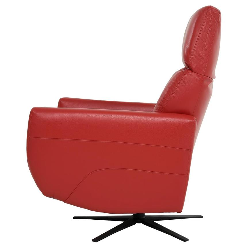 Kirk Red Power Motion Leather Recliner  alternate image, 5 of 10 images.