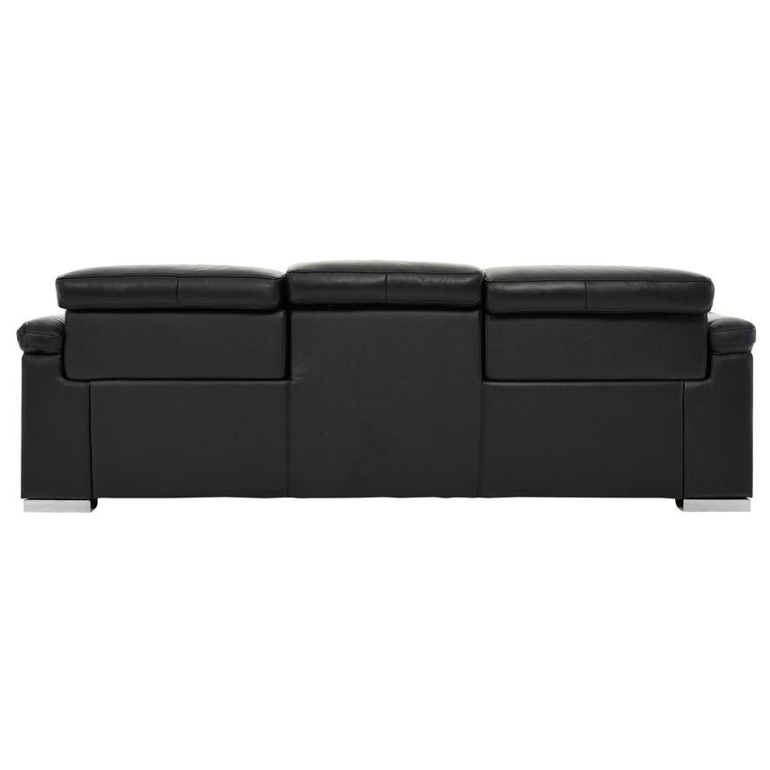 Charlie Black Power Motion Leather Sofa  alternate image, 5 of 10 images.