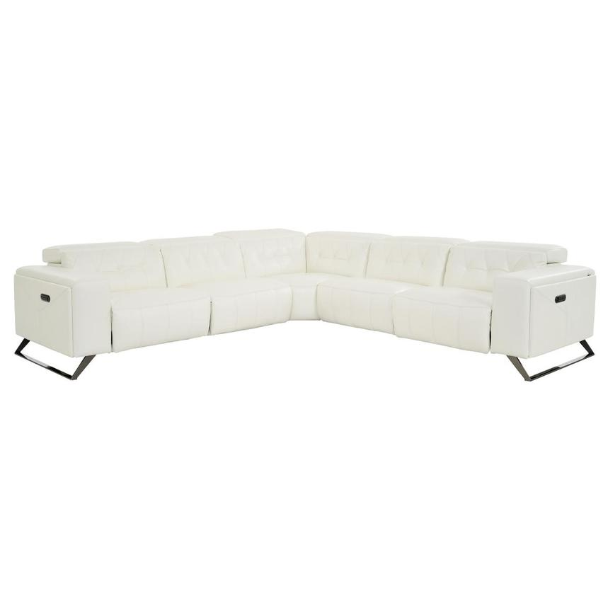 Anchi Leather Power Reclining Sectional  main image, 1 of 10 images.