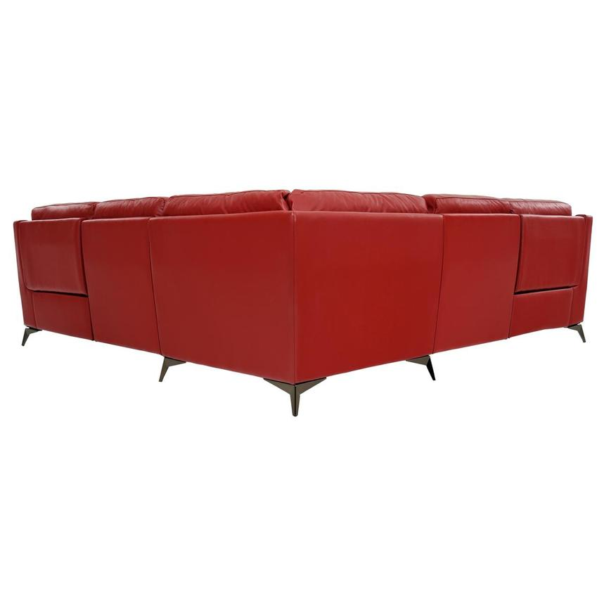 Barry Red Leather Power Reclining Sectional  alternate image, 4 of 8 images.