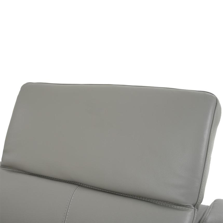 Davis 2.0 Light Gray Leather Power Reclining Sectional  alternate image, 5 of 10 images.