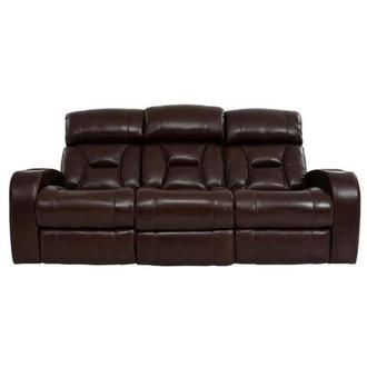 Gio Brown Leather Power Reclining Sofa