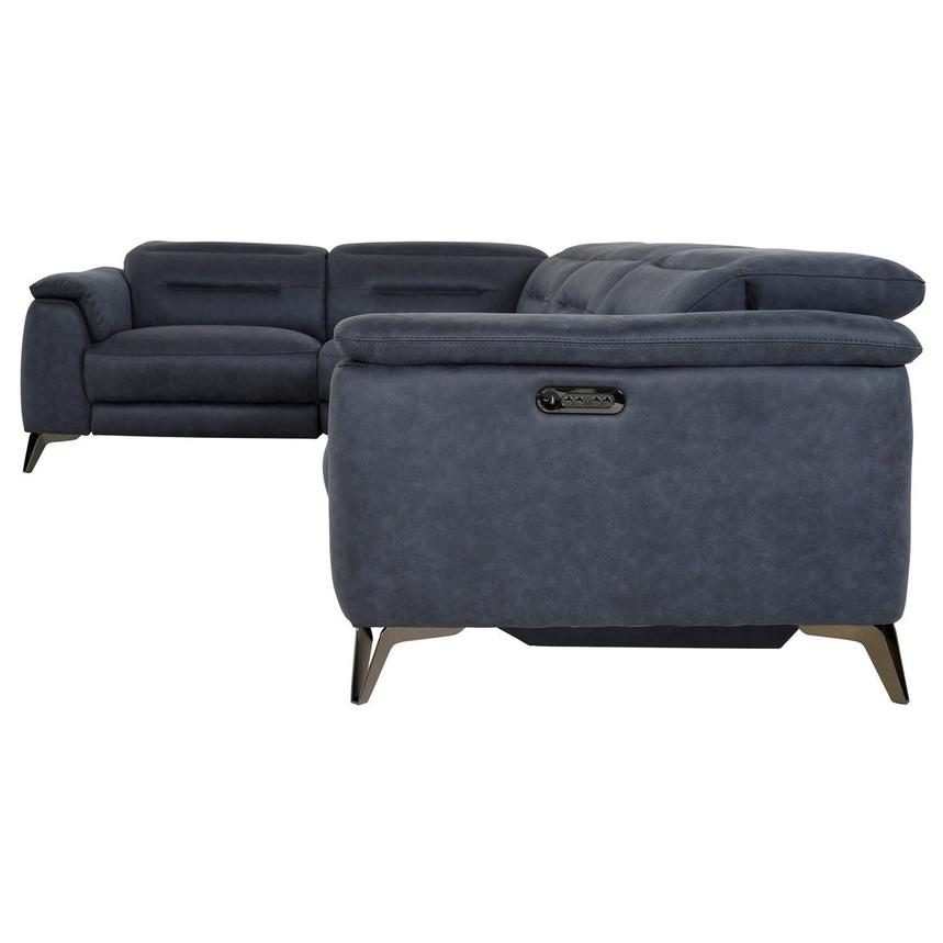 Claribel II Blue Power Reclining Sectional  alternate image, 3 of 11 images.
