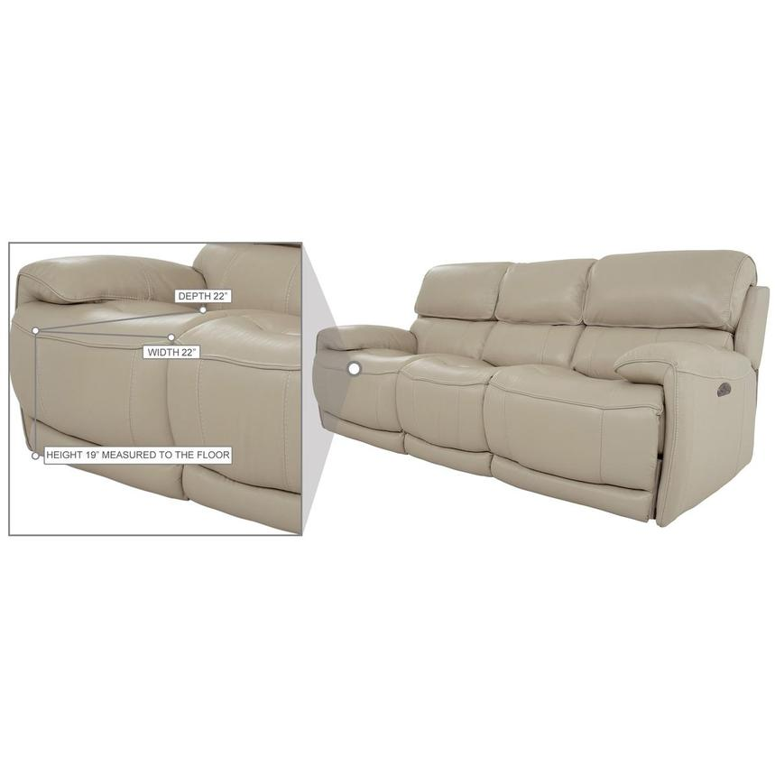 Cody Cream Leather Power Reclining Sofa  alternate image, 10 of 11 images.