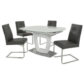 Giuli/Stina Gray 5-Piece Dining Set