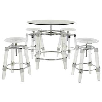 Julie Clear 5-Piece Casual Dining Set