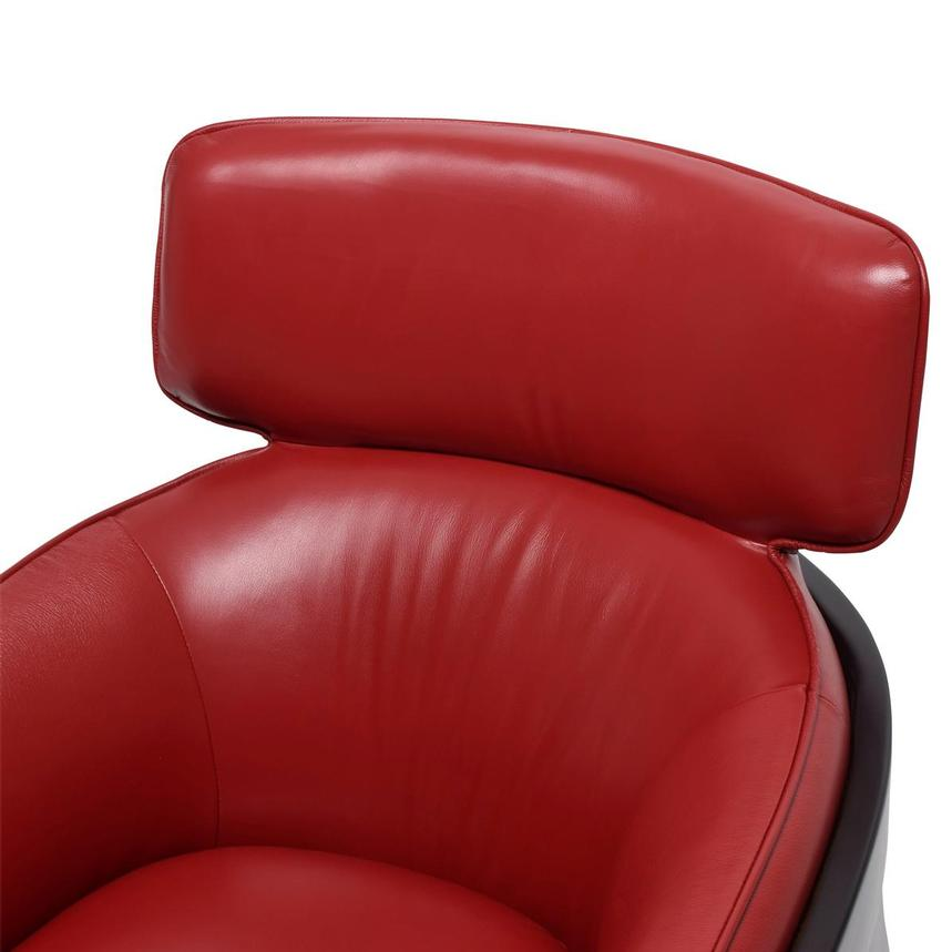 Irene II Red Leather Accent Chair  alternate image, 5 of 8 images.