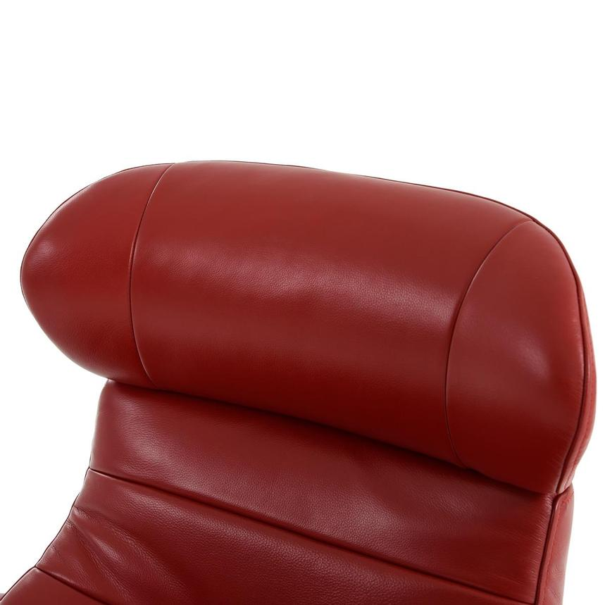 Enzo II Red Leather Swivel Chair  alternate image, 9 of 13 images.