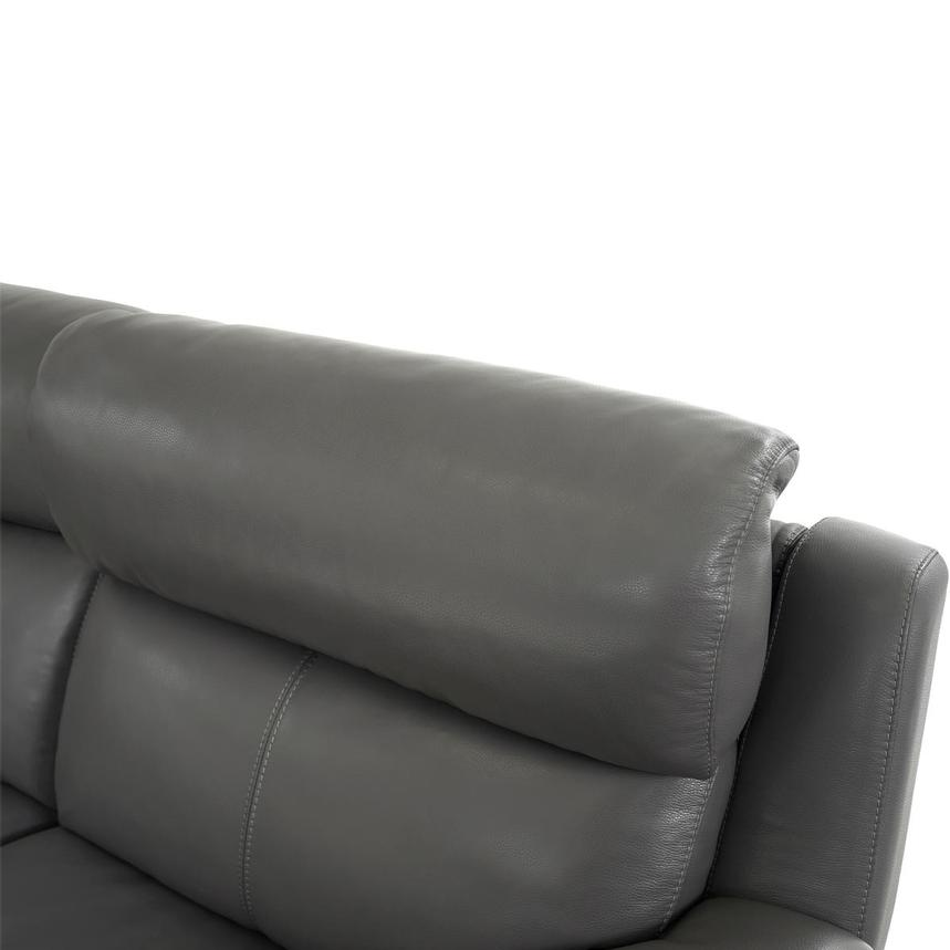 Matteo Gray Power Motion Leather Sofa w/Right & Left Recliners  alternate image, 5 of 11 images.