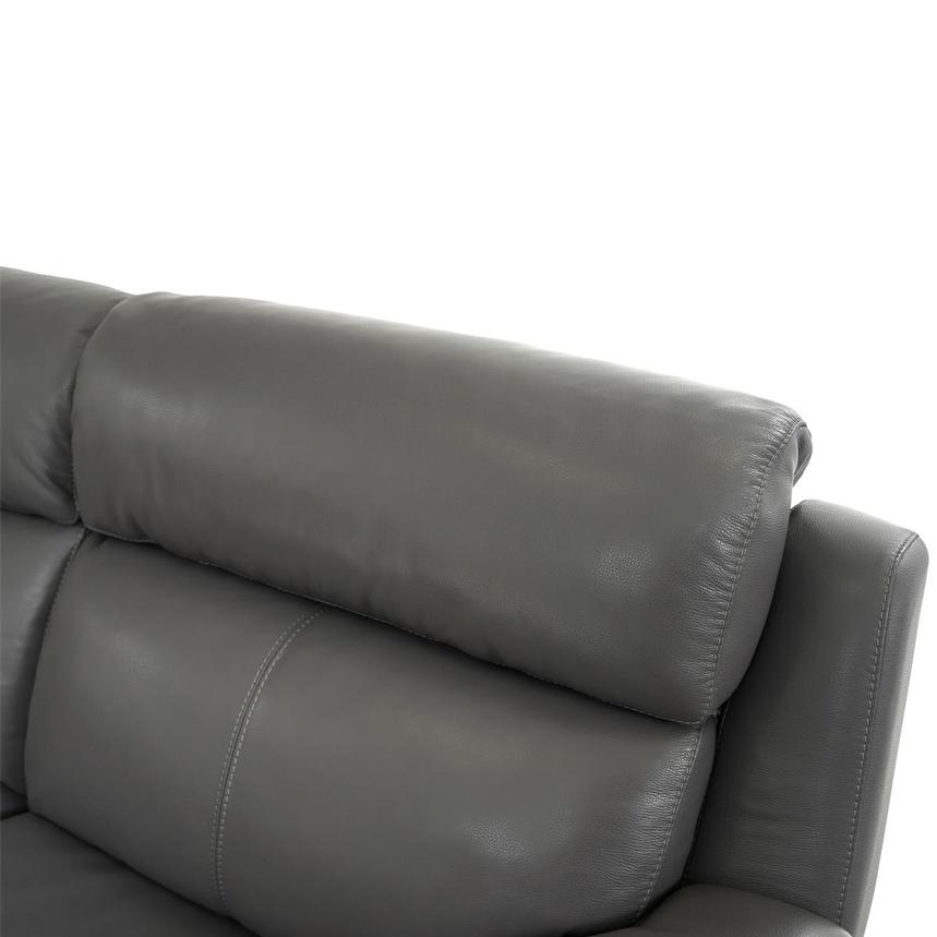 Matteo Gray Power Motion Leather Sofa w/Right & Left Recliners  alternate image, 5 of 10 images.