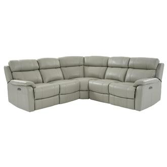 Ronald 2.0 Gray Leather Power Reclining Sectional