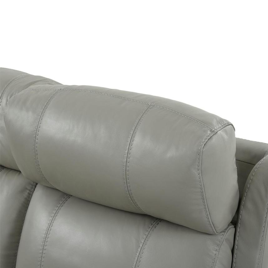 Ronald 2.0 Gray Leather Power Reclining Sectional  alternate image, 6 of 8 images.