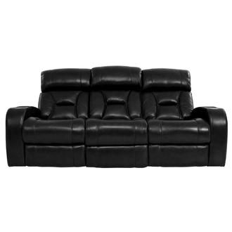 Gio Black Leather Power Reclining Sofa