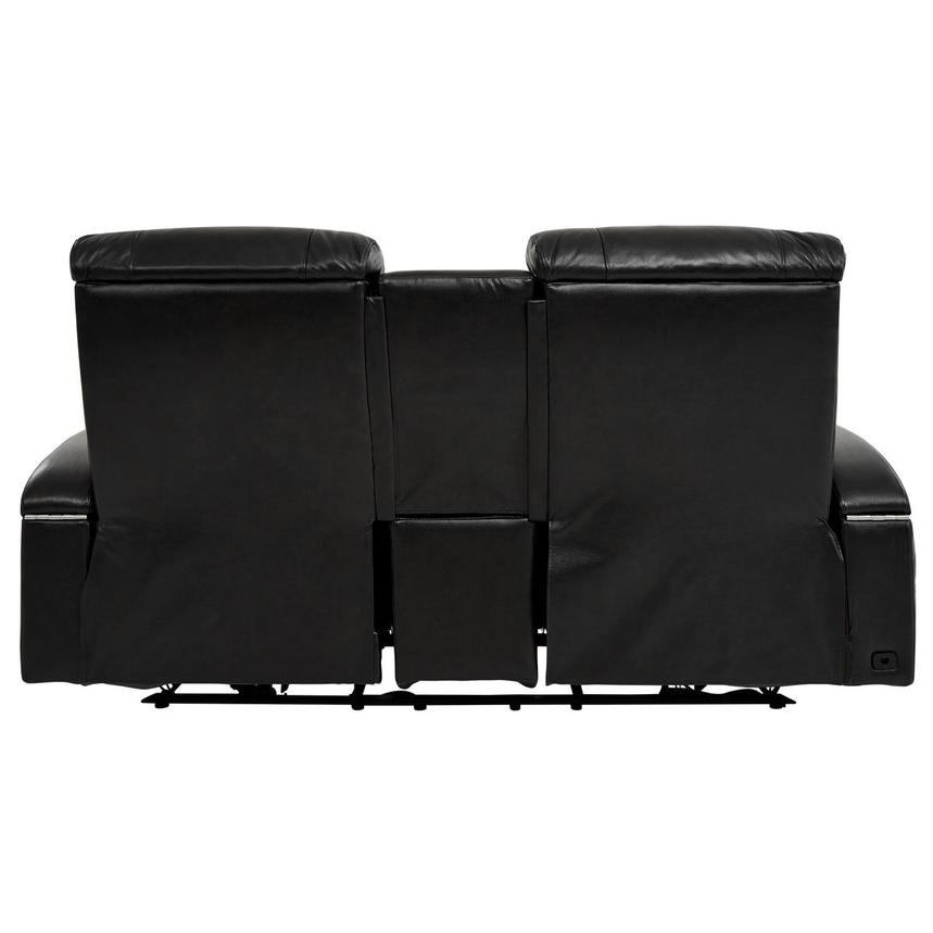 Gio Black Power Motion Leather Sofa w/Console  alternate image, 5 of 13 images.