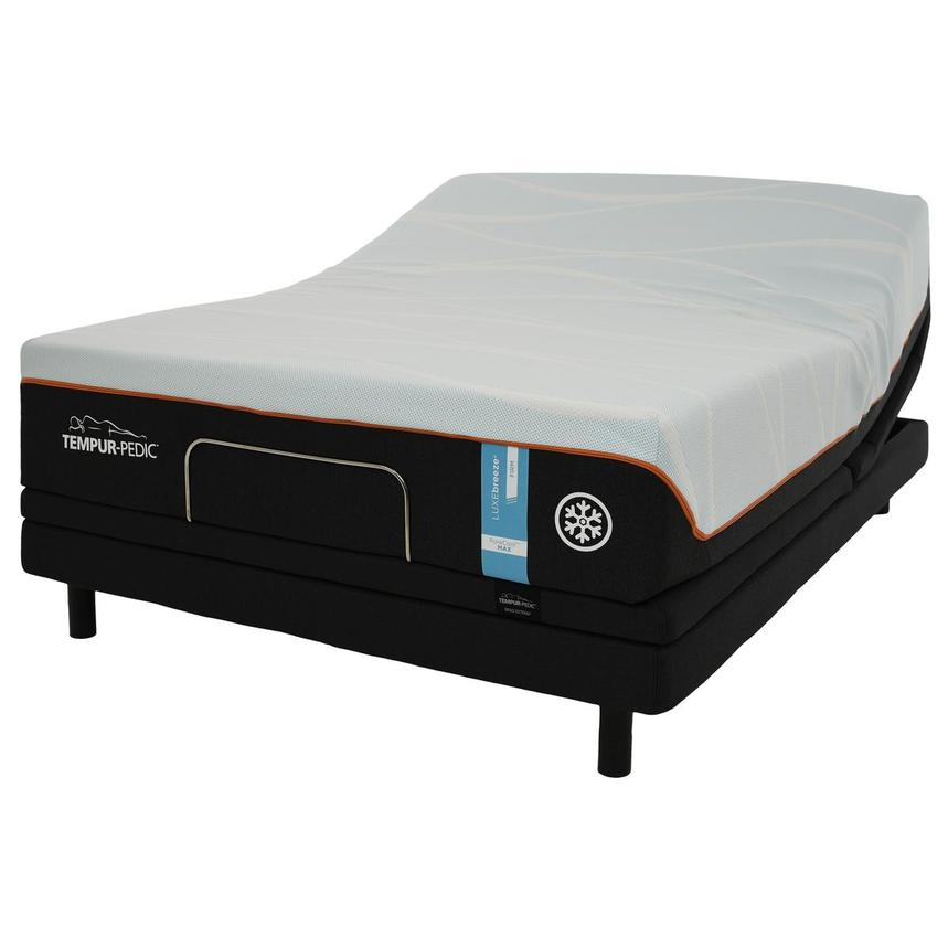 Luxe-Breeze Firm Queen Mattress w/Ergo® Extend Powered Base by Tempur-Pedic  main image, 1 of 6 images.