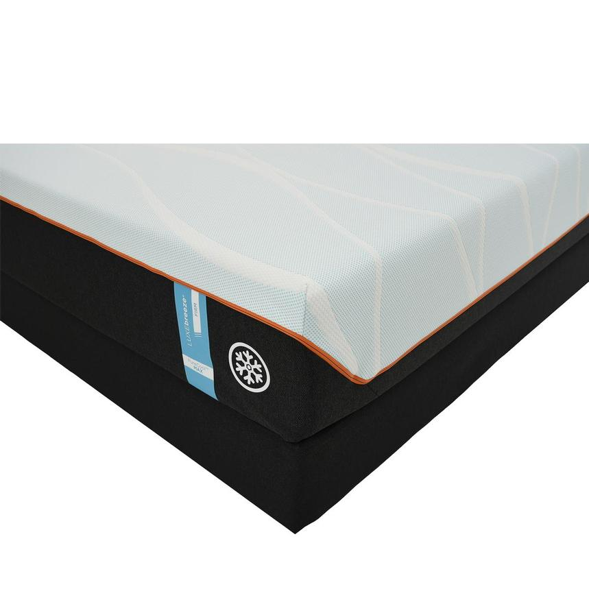 Luxe-Breeze Firm Queen Mattress w/Regular Foundation by Tempur-Pedic  main image, 1 of 5 images.