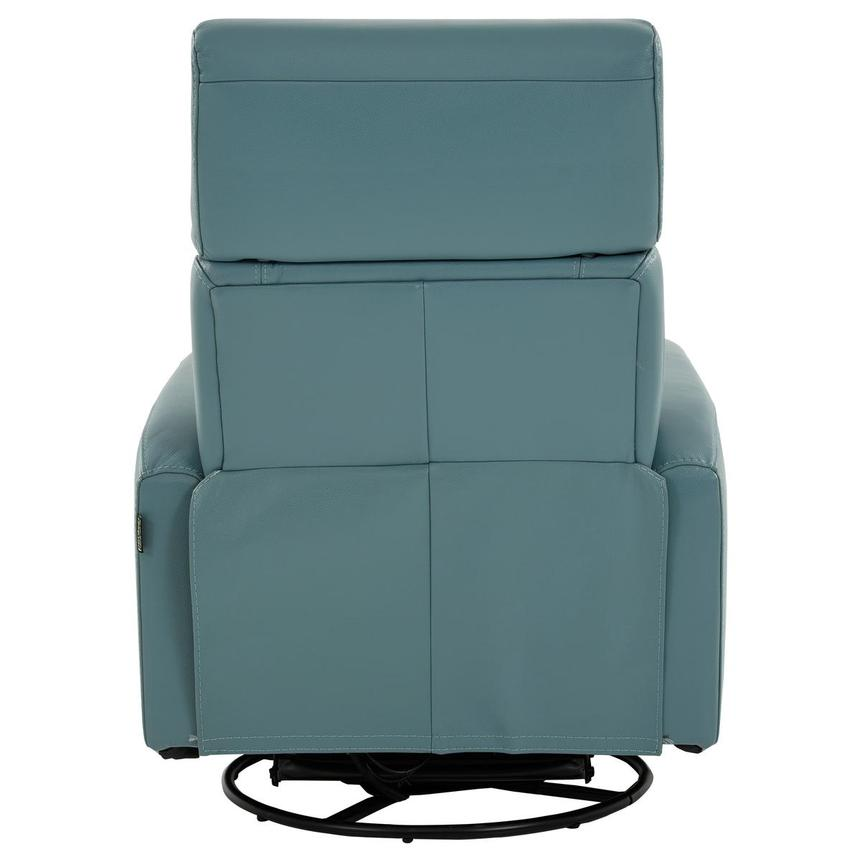 Lucca Blue Leather Power Recliner  alternate image, 5 of 9 images.