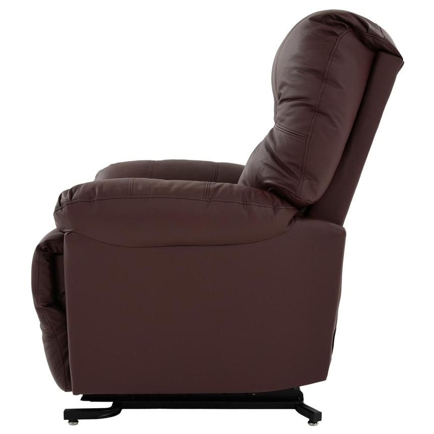 Wynette Burgundy Leather Power Lift Recliner  alternate image, 5 of 9 images.