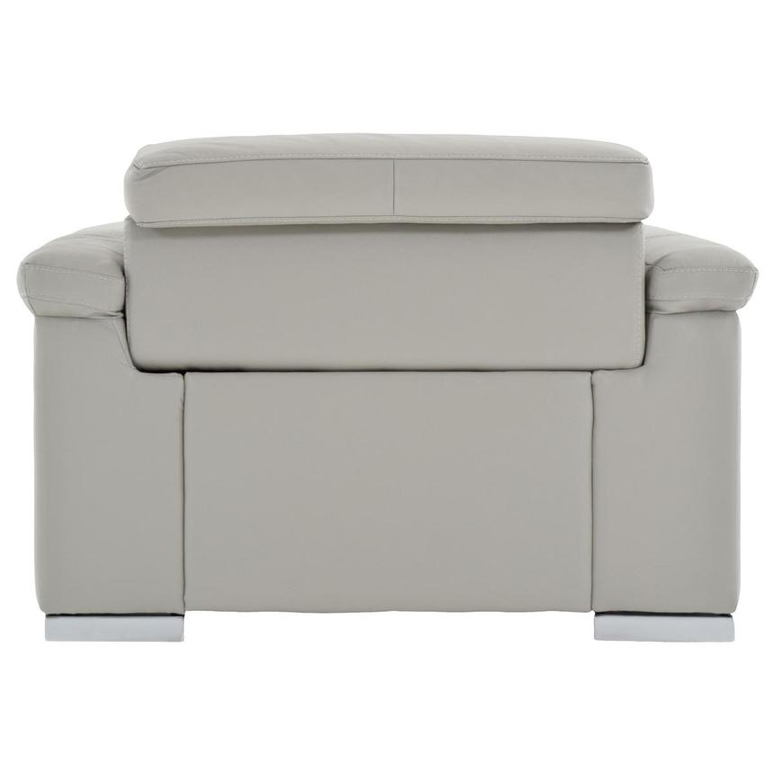Charlie Light Gray Leather Power Reclining Sofa  alternate image, 5 of 11 images.