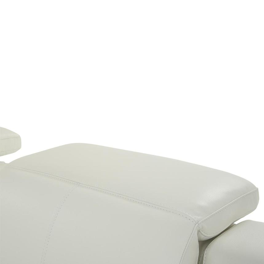 Davis 2.0 White Leather Power Reclining Sectional  alternate image, 6 of 11 images.