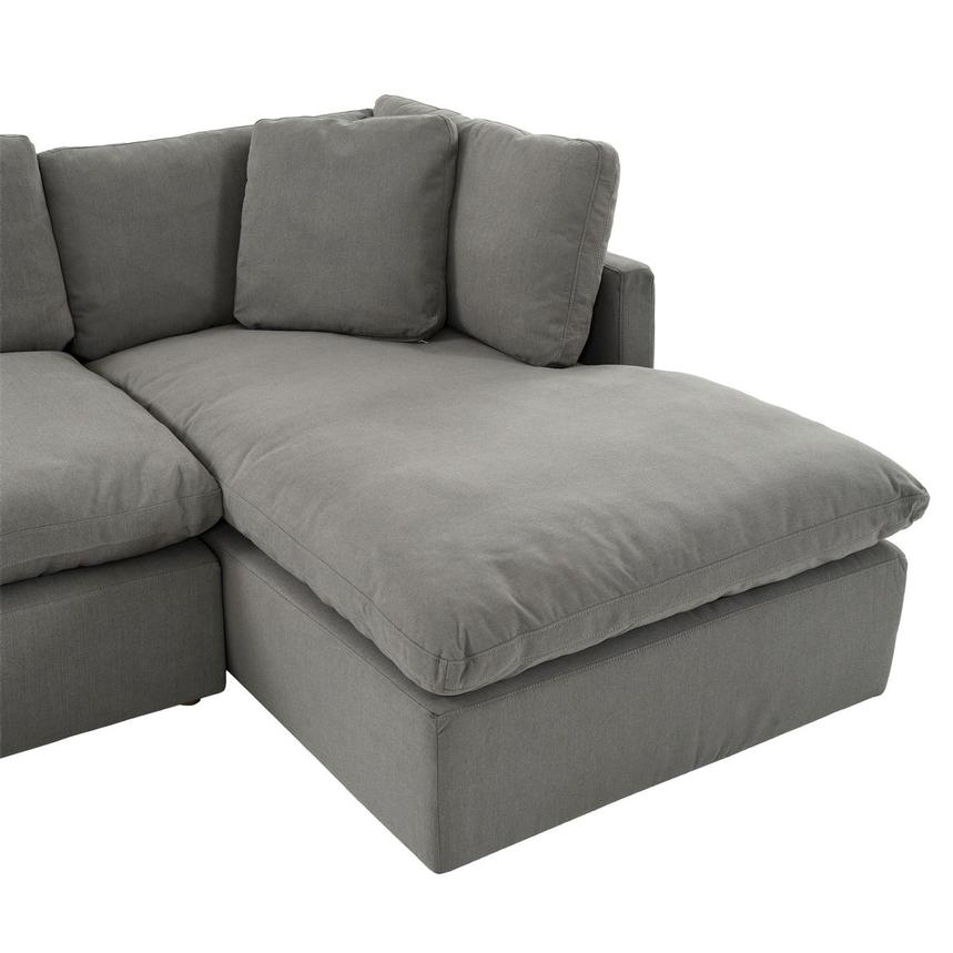 Neapolis Gray Corner Sofa w/Right Chaise  alternate image, 5 of 6 images.