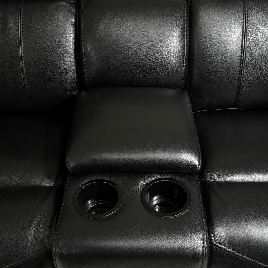 Austin Black Home Theater Leather Seating  alternate image, 9 of 11 images.