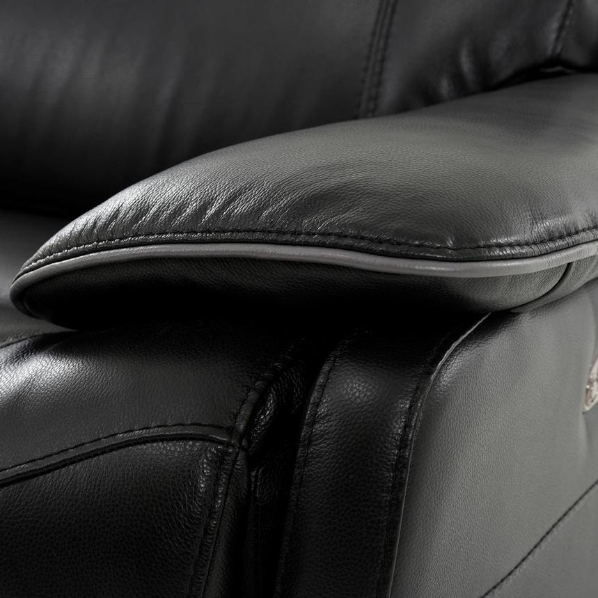 Austin Black Home Theater Leather Seating  alternate image, 8 of 11 images.