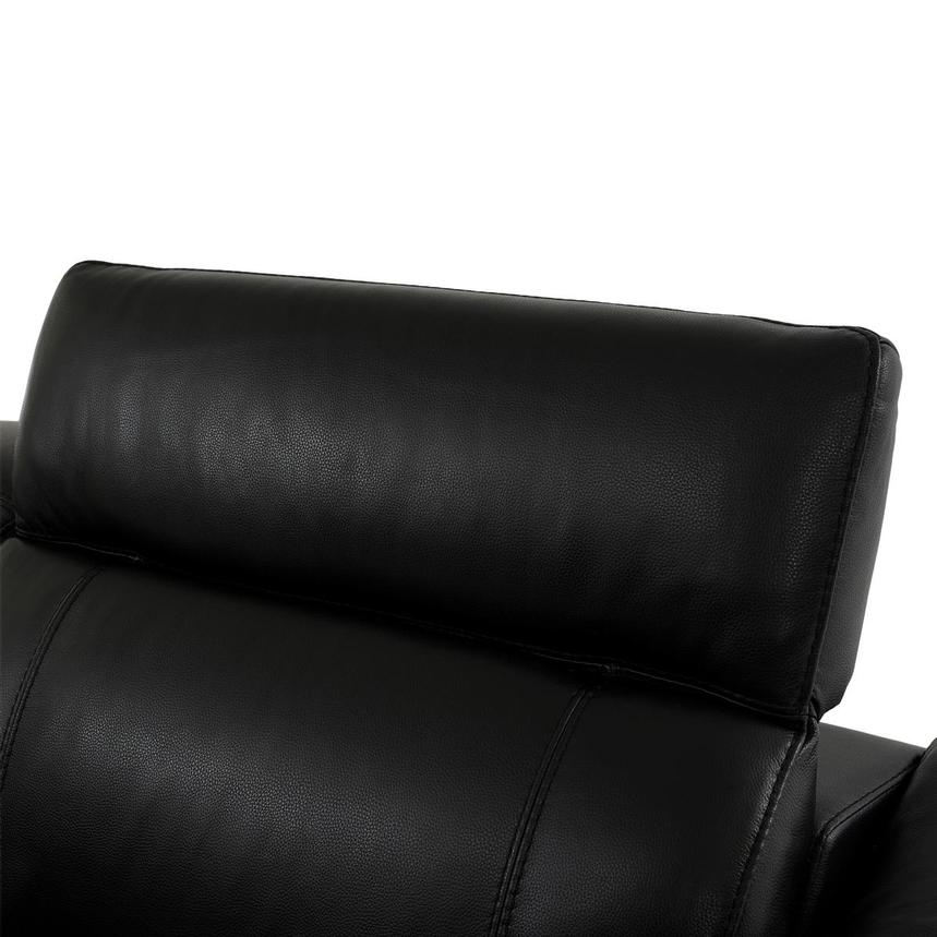 Austin Black Leather Power Reclining Sectional  alternate image, 5 of 8 images.