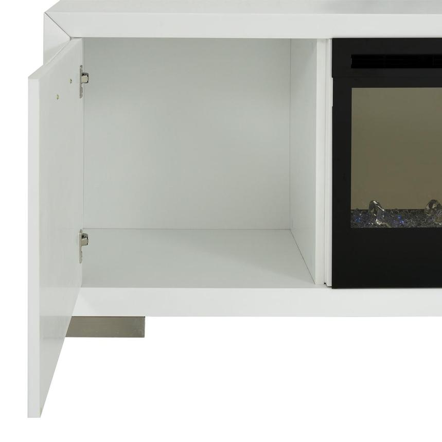 Rialto White Wall Unit w/Faux Fireplace  alternate image, 9 of 10 images.