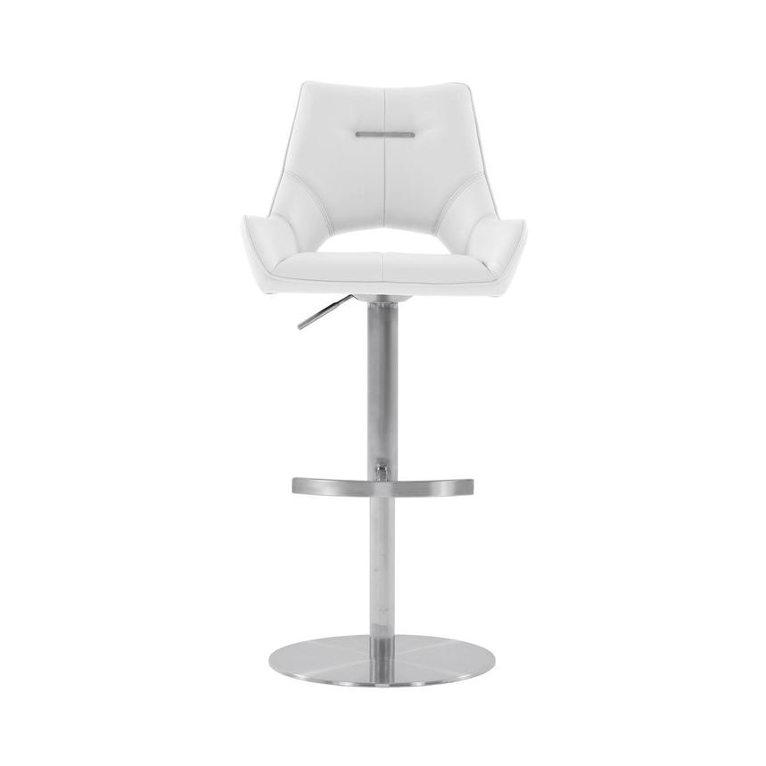 Kalia II White Adjustable Stool  main image, 1 of 10 images.