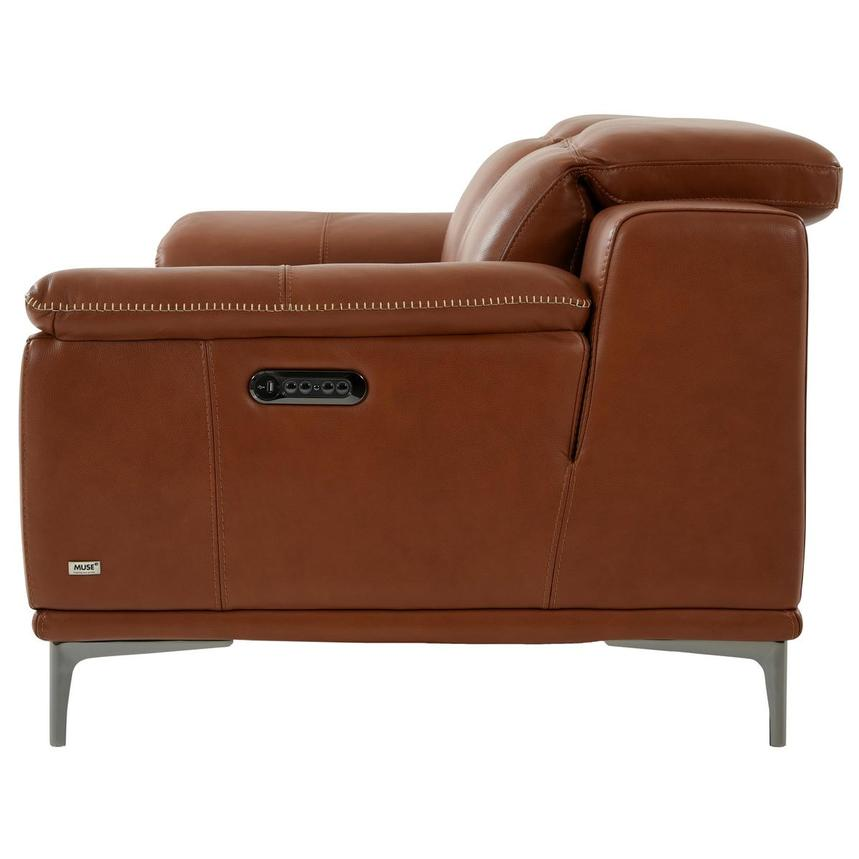 Katherine Tan Leather Power Reclining Loveseat  alternate image, 4 of 10 images.