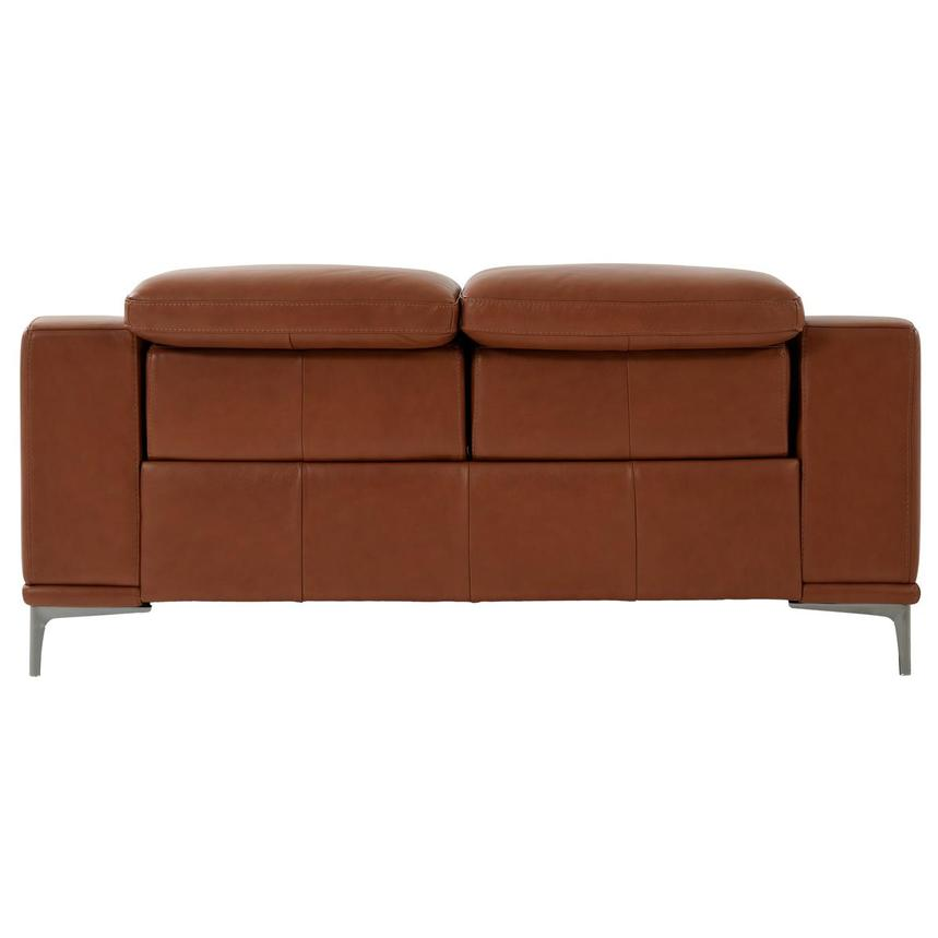 Katherine Tan Leather Power Reclining Loveseat  alternate image, 5 of 12 images.