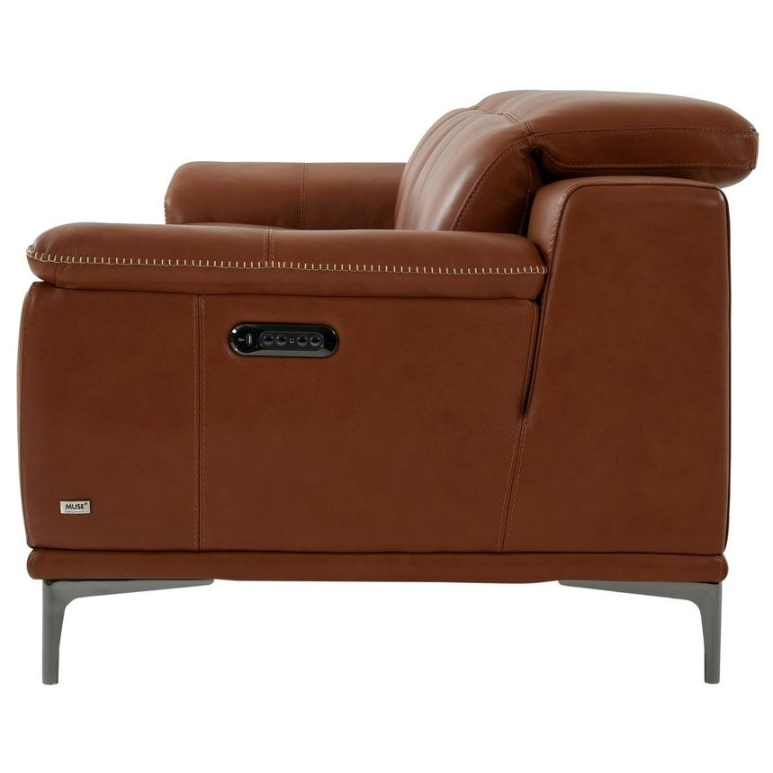 Katherine Tan Leather Power Reclining Sofa El Dorado
