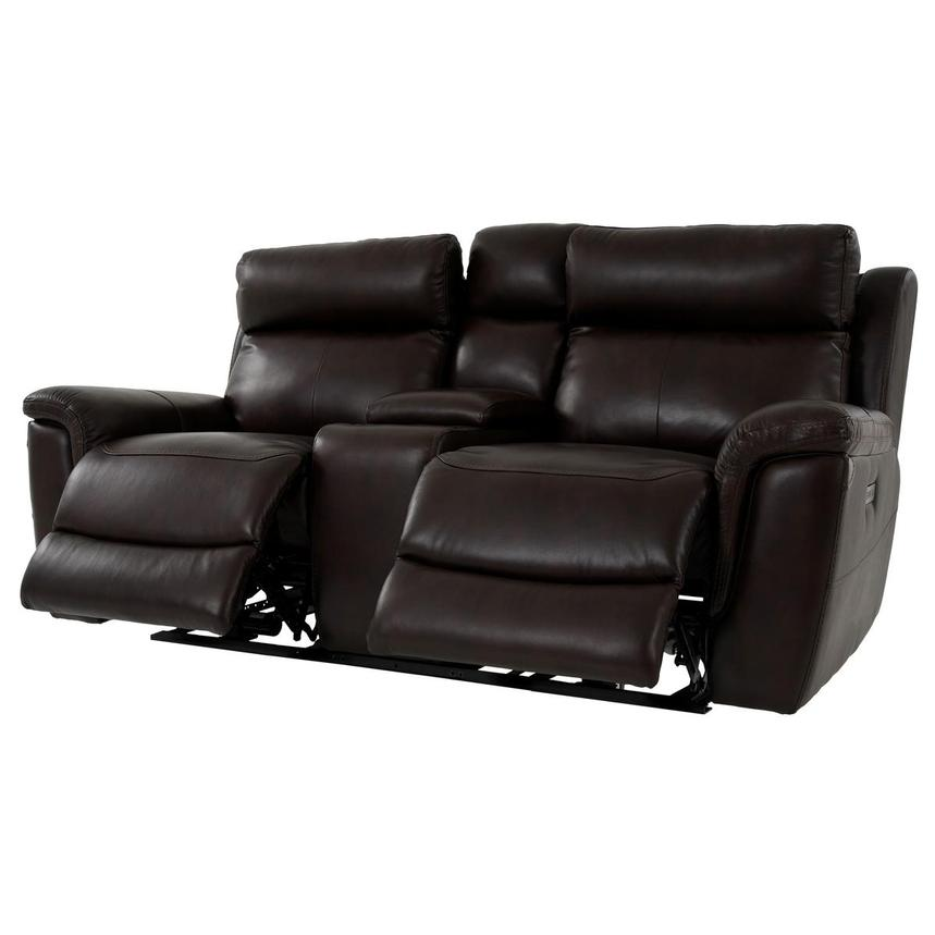 Bronco Leather Power Reclining Sofa w/Console  alternate image, 3 of 12 images.
